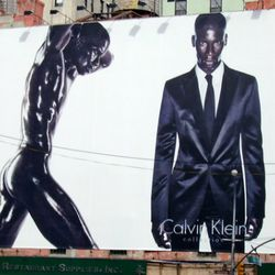 """January: Calvin Klein's <a href=""""http://ny.racked.com/archives/2010/01/29/latest_calvin_klein_billboard_is_scandalous_in_a_whole_new_way.php"""" rel=""""nofollow"""">very naked</a> male model."""