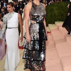 Brie Larson wears a Proenza Schouler dress.