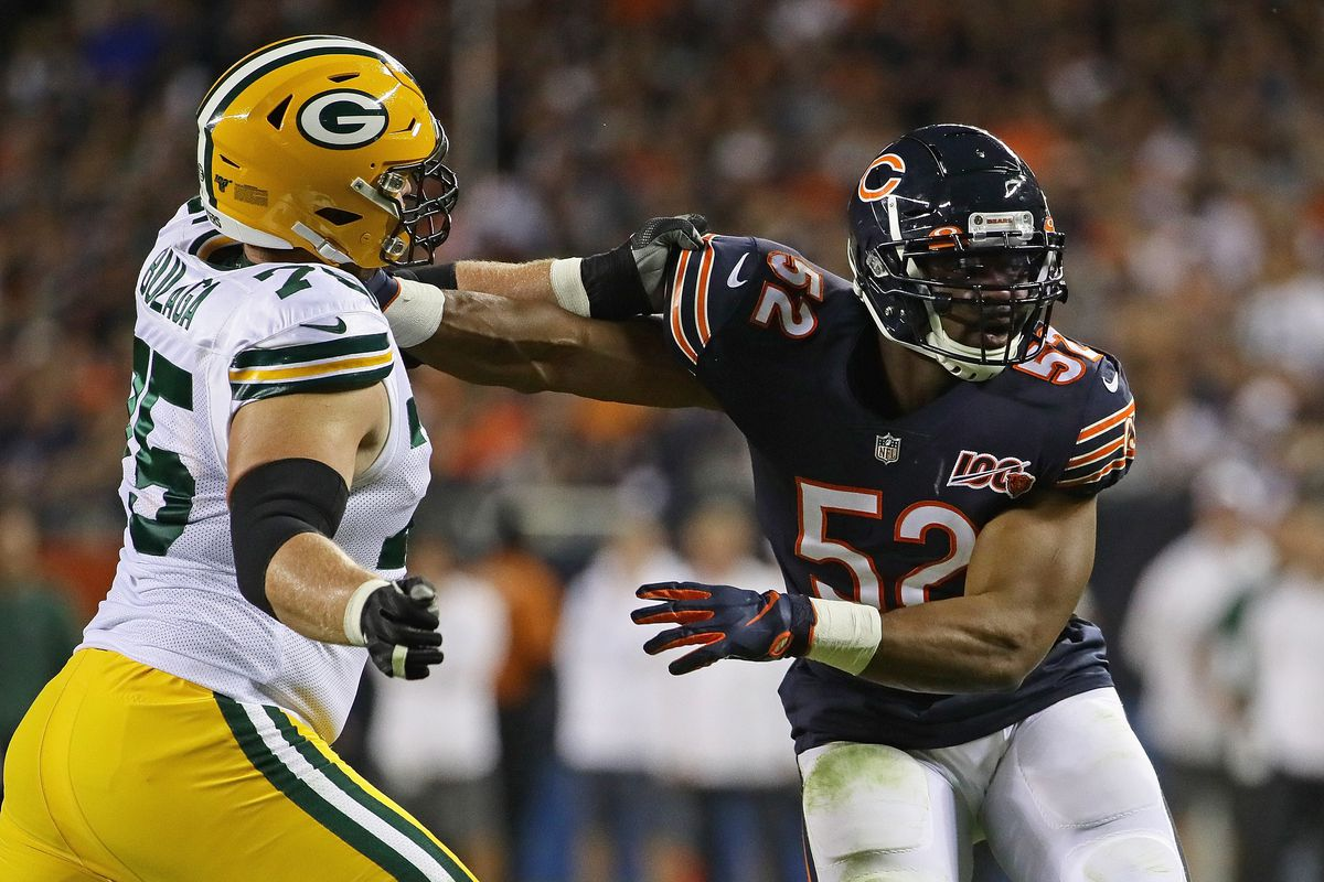 The Bears signed Khalil Mack for moments like these — to stop Aaron Rodgers