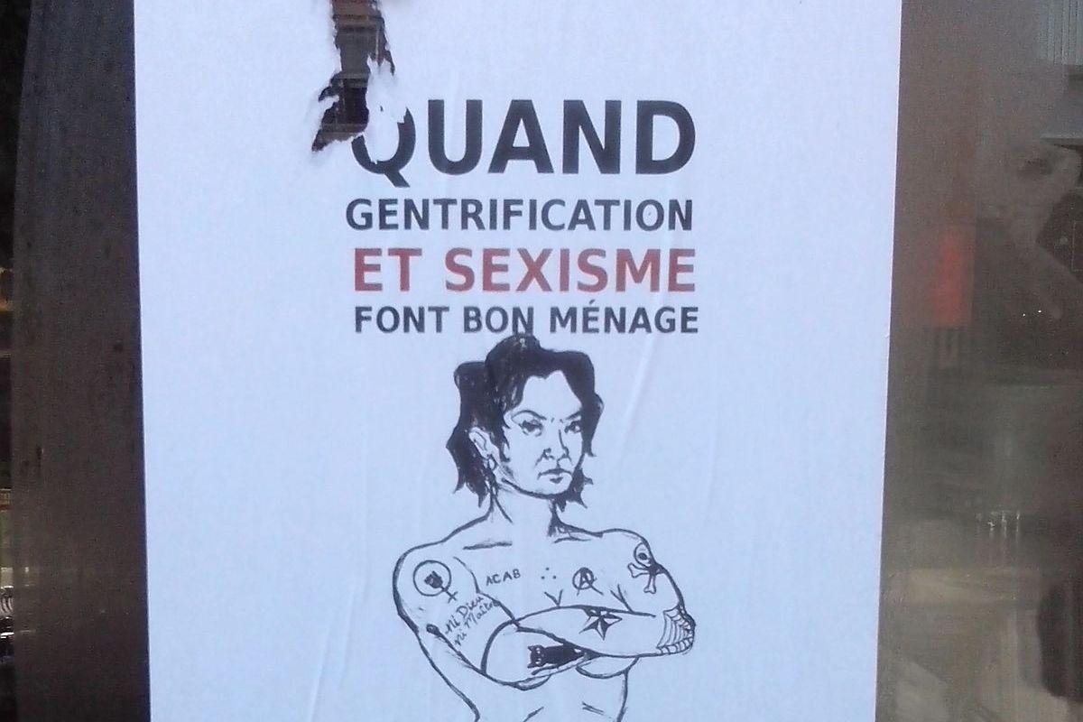 Group's poster denounces La Mâle Bouffe