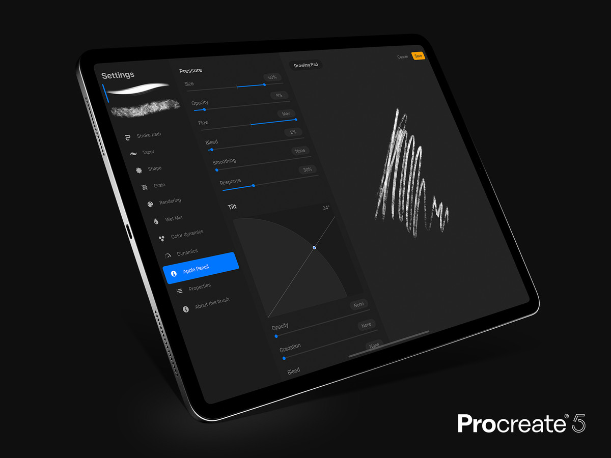 Procreate is getting a new graphics engine and the ability