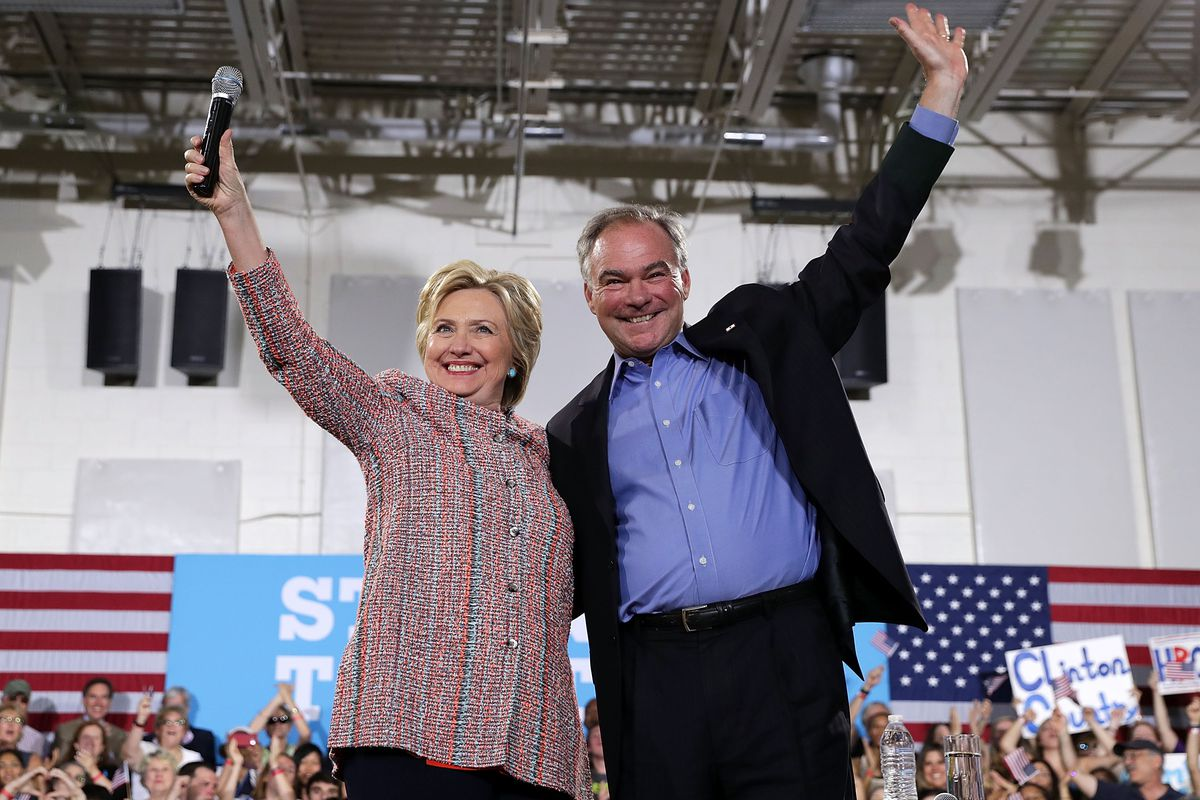 Hillary Clinton Campaigns With Tim Kaine In Virginia