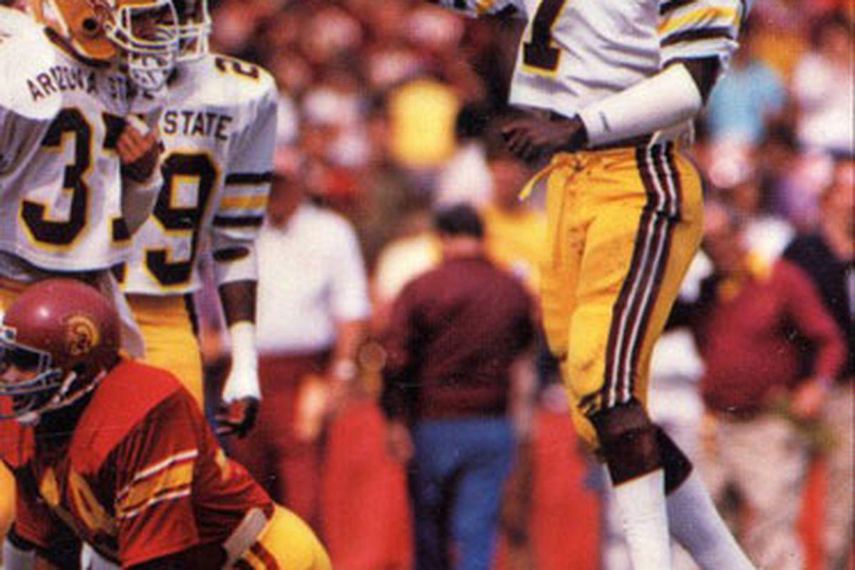 David Fulcher puts a beating on USC (Photo: ASU)