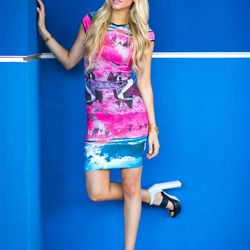 """Sophie of <a href=""""http://angelfoodstyle.com""""target=""""_blank"""">Angel Food Style</a> is wearing a <a href=""""http://shop.nordstrom.com/s/ted-baker-london-road-to-nowhere-print-neoprene-body-con-dress/3812267?origin=category-personalizedsort&contextualcategoryi"""