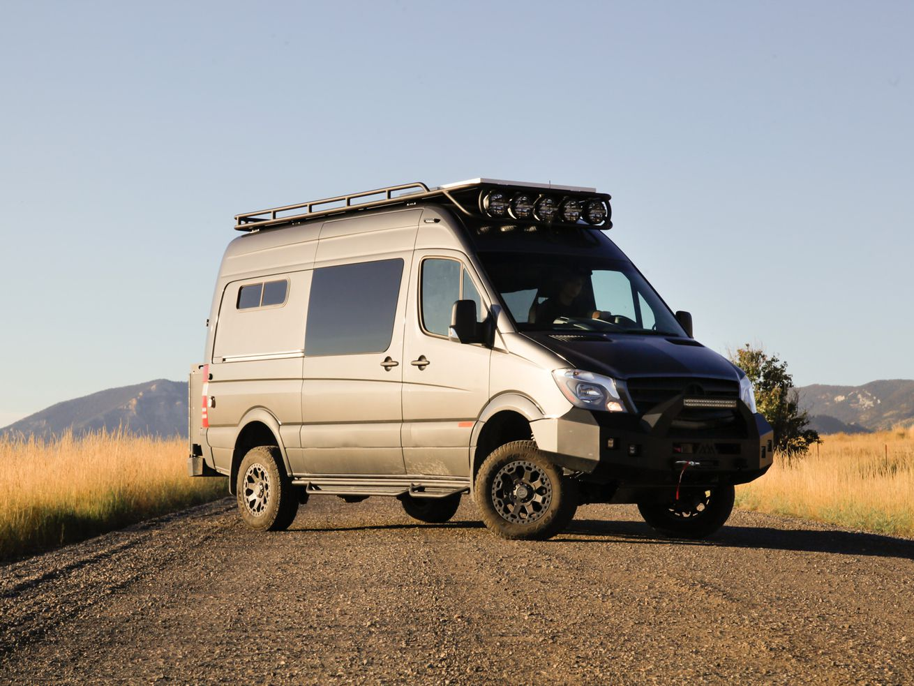 Luxury camper van fits all the essentials in 112 square feet