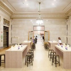 """Rendering via <a href=""""http://therealdeal.com/newyork/articles/mta-officially-releases-renderings-of-grand-central-apple-store"""" rel=""""nofollow"""">The Real Deal</a>."""