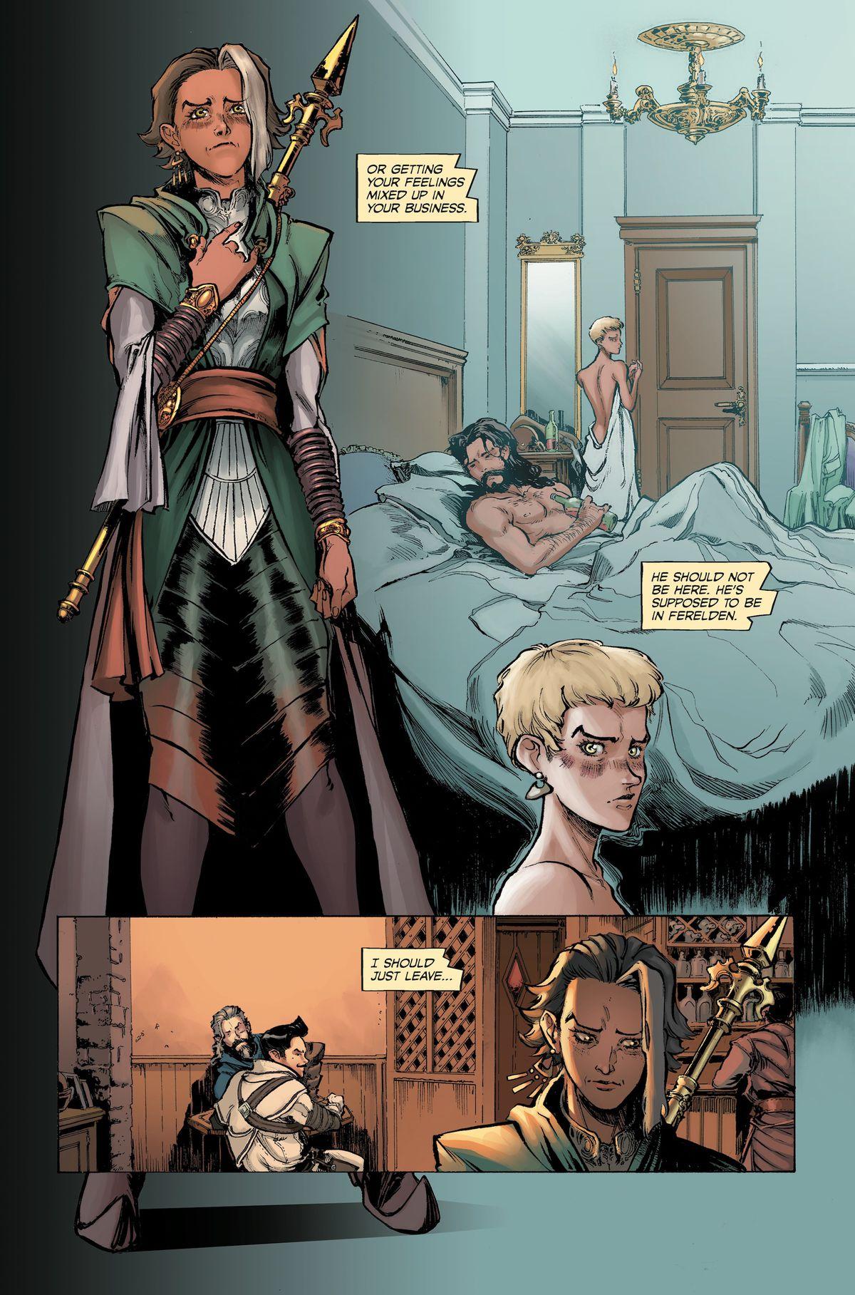 From Dragon Age: Deception #1, Dark Horse Comics (2018).