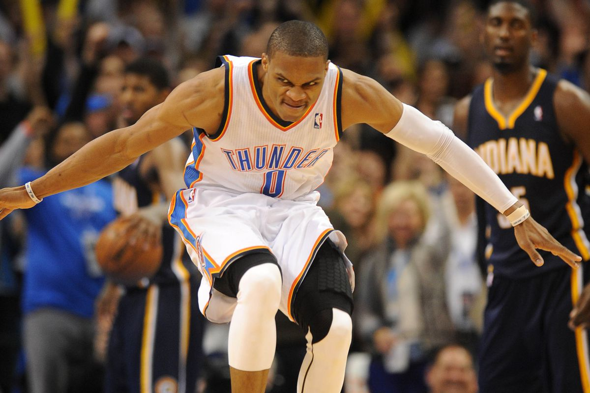 """Probably the greatest Westbrook image since """"the look""""."""