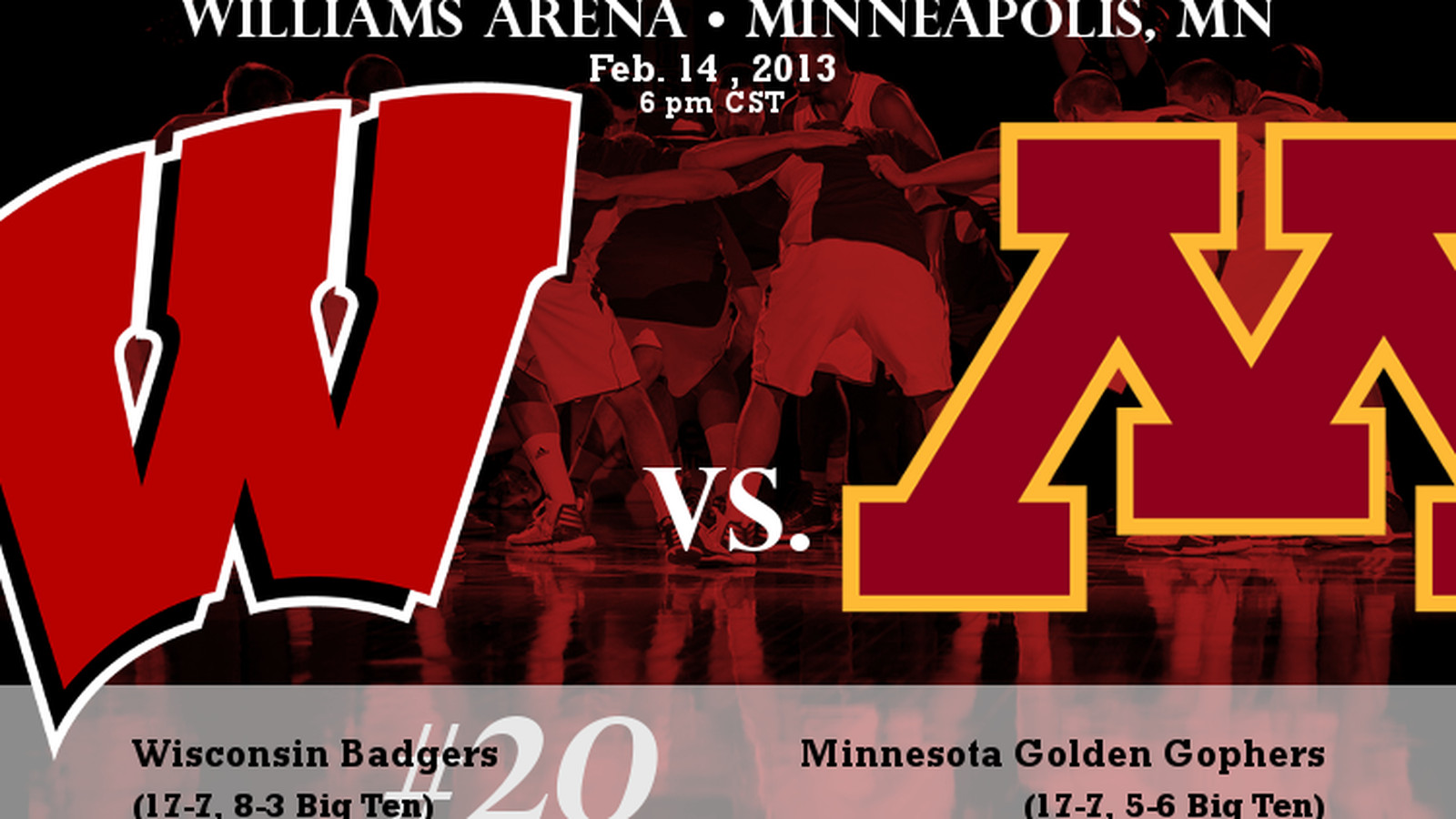 LIVE GAME THREAD: No. 20 Wisconsin Badgers vs. Minnesota Golden Gophers - Bucky's 5th Quarter