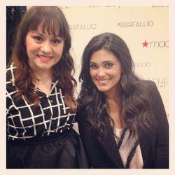 "Adiel Cloud Nuesmeyer with Rachel Roy at Macy's, photo via <a href=""http://instagram.com/triplyksis"">@triplyksis</a>"