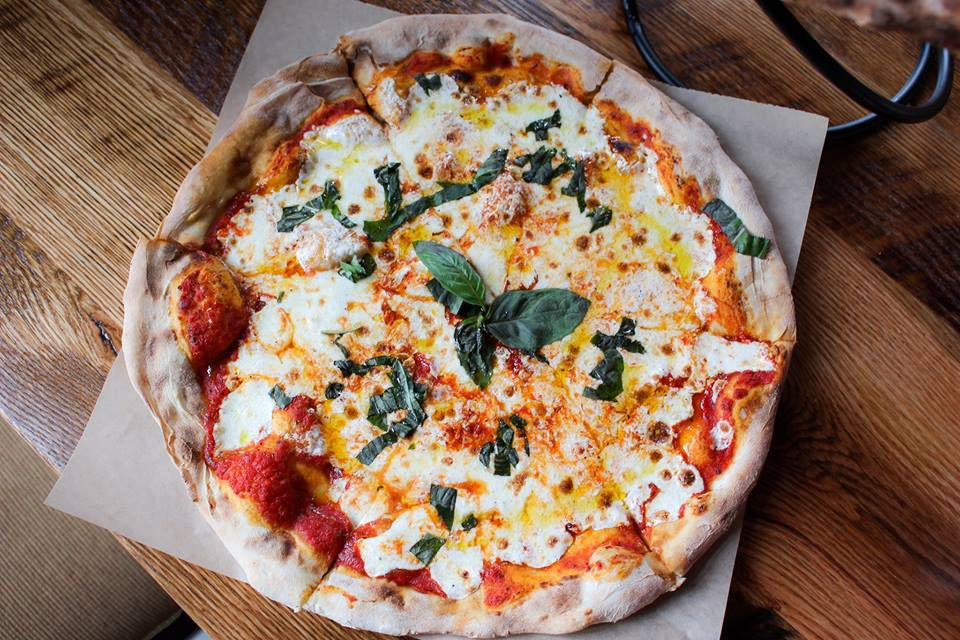 A margherita pizza at City Tap Penn Quarter.