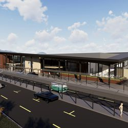 An artist's rendering of the new terminal at the Provo Municipal Airport.