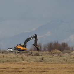 Road construction for the new prison continues in Salt Lake City on Tuesday, Feb. 21, 2017.