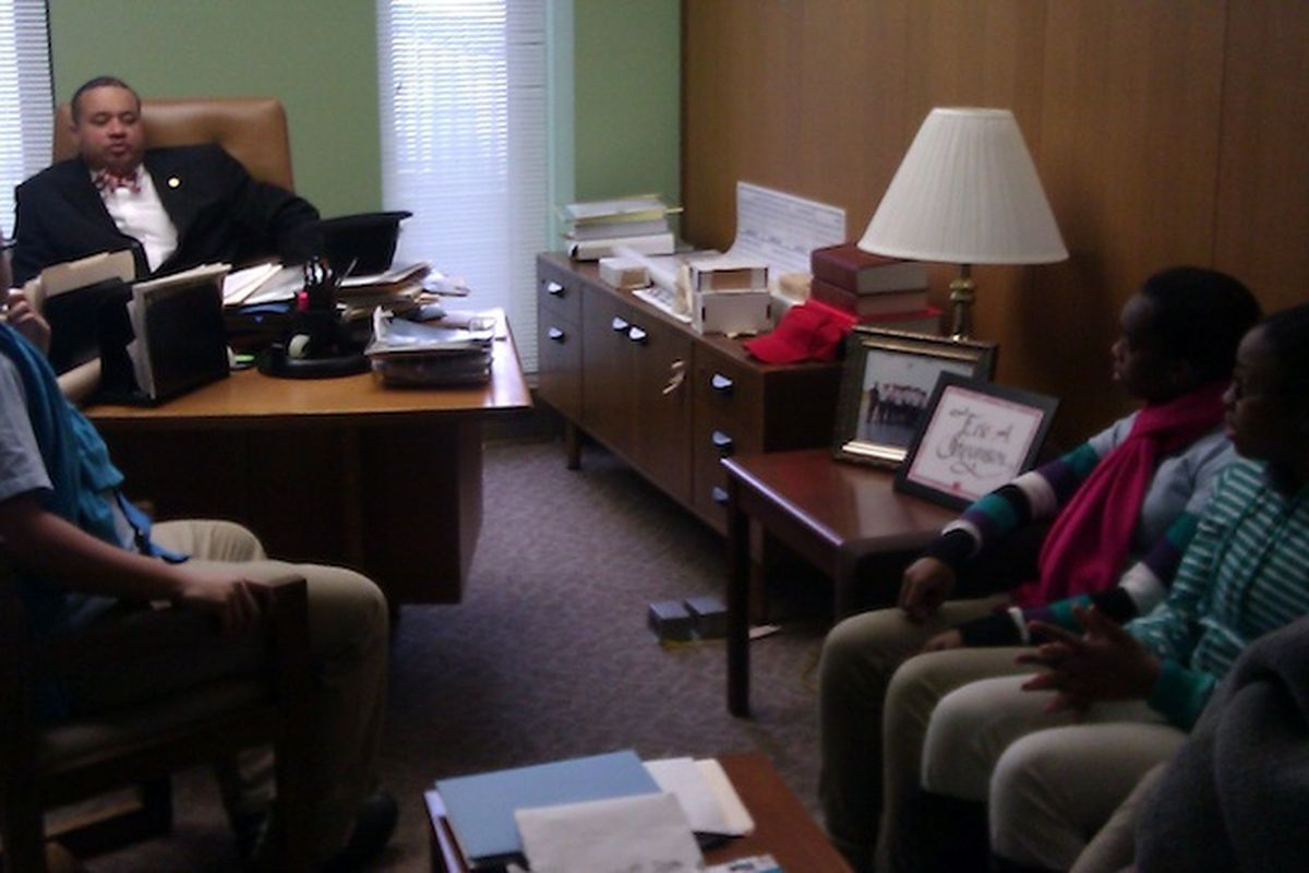 Charter school advocates met with lawmakers in Albany in 2013. They plan to repeat the effort on Tuesday.