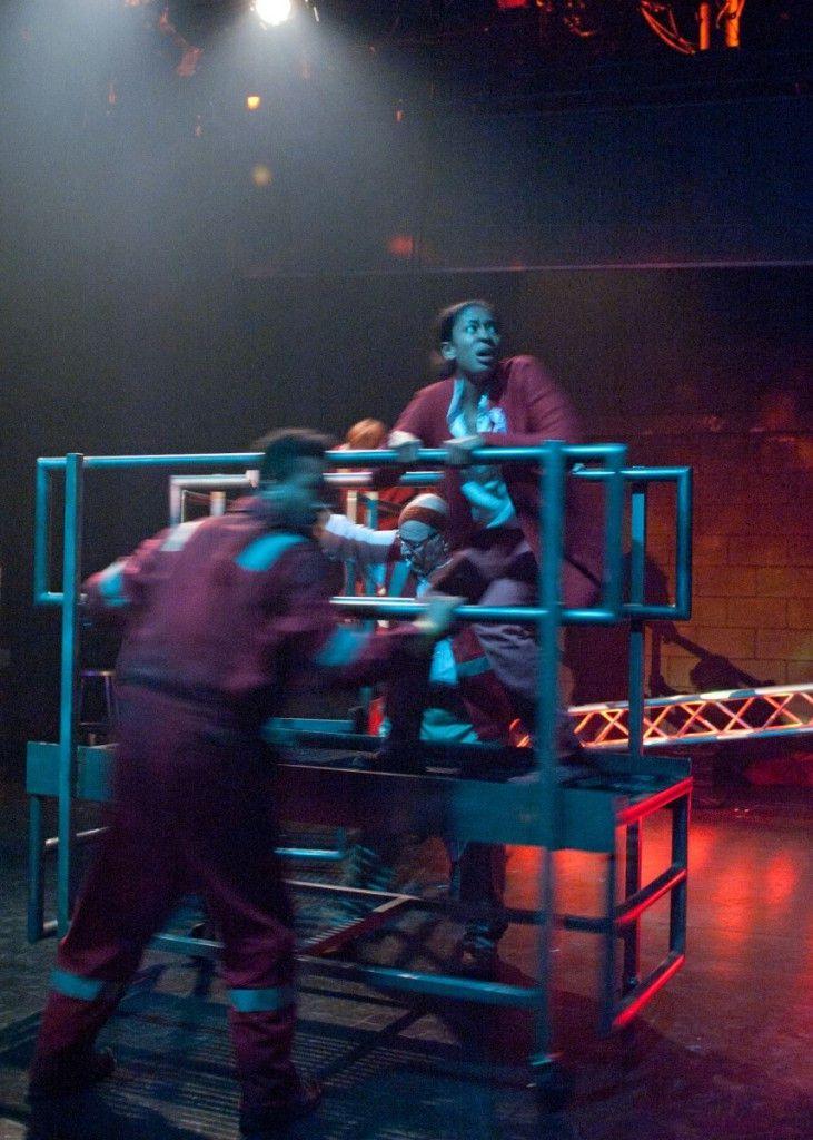 "A scene from the TimeLine Theatre production of Leigh Fondakowski's ""Spill."" (Photo: Lara Goetsch)"