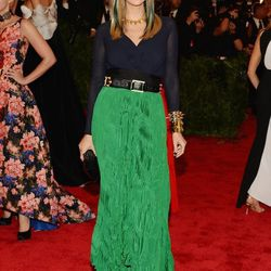 Ivanka Trump—with green streaks to match her green skirt