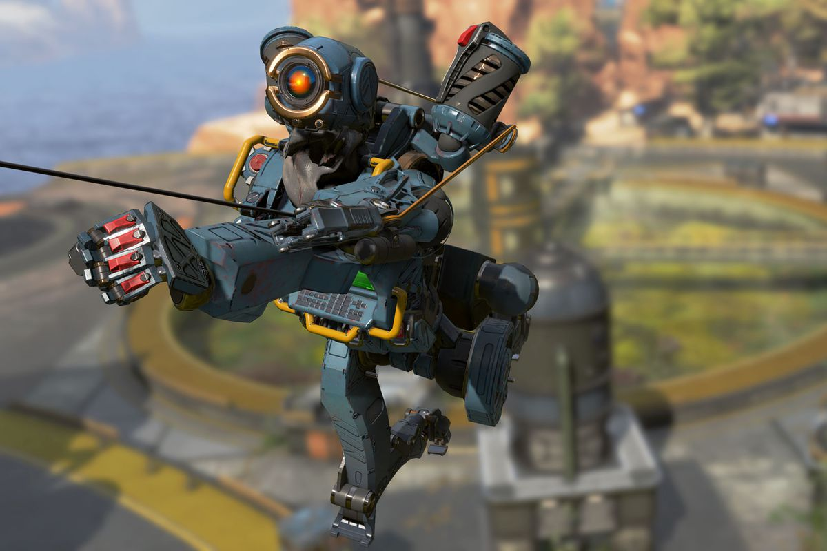 Apex Legends - Pathfinder uses its grapple
