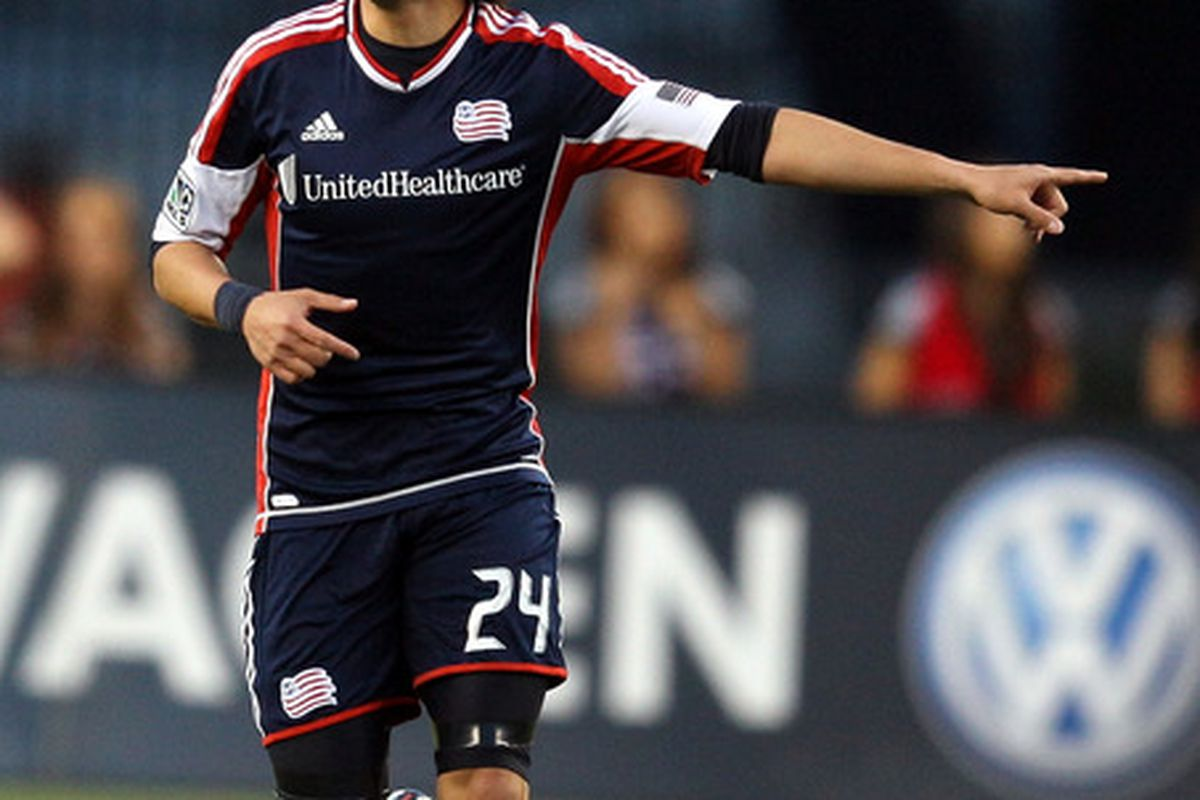 FOXBORO, MA - MAY 12:  Lee Nguyen #24 the New England Revolution reacts after scoring in the first half at Gillette Stadium May 12, 2012 in Foxboro, Massachusetts. (Photo by Gail Oskin/Getty Images)