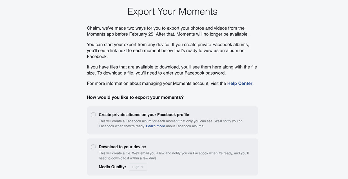 Facebook's photo-harvesting Moments app is shutting down