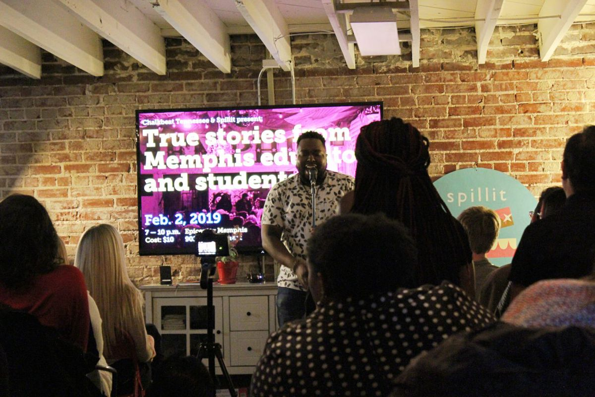 Tim Green was one of seven educators and students who participated in a February storytelling night hosted by Chalkbeat Tennessee, Spillit, and The Knowledge Tree.
