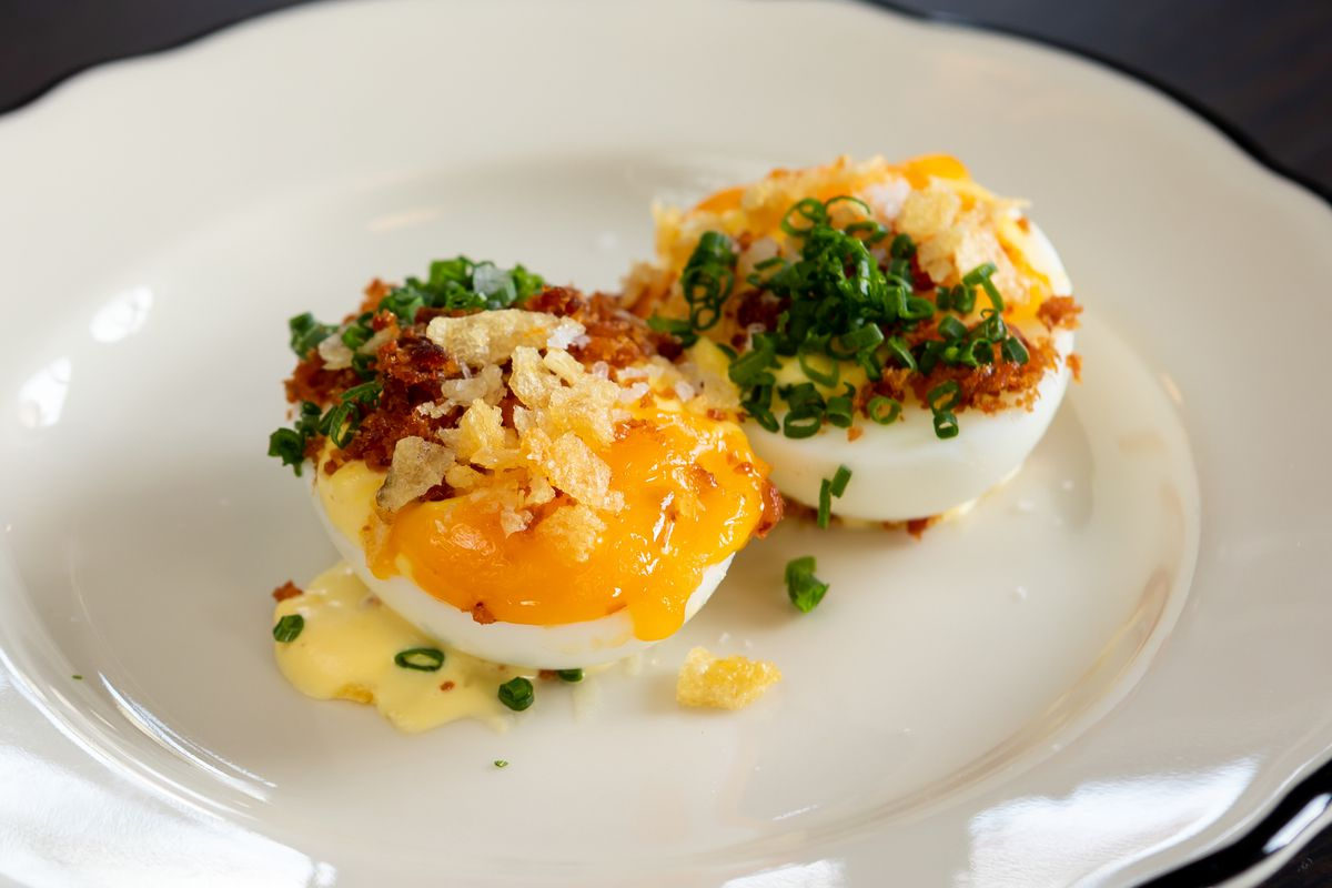 Deviled eggs at Mr. Digby's