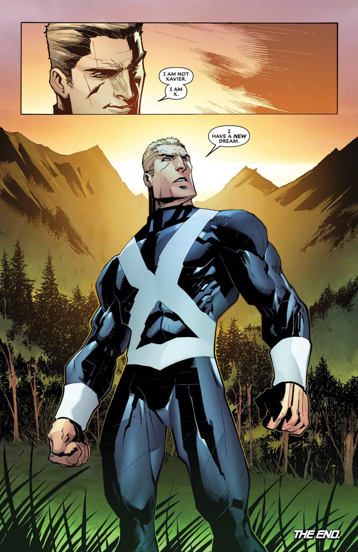 Professor X, inhabiting the body of Fantomex, in Astonishing X-Men #12, Marvel Comics (2018).