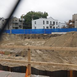 The huge hole where the McDonald's was located
