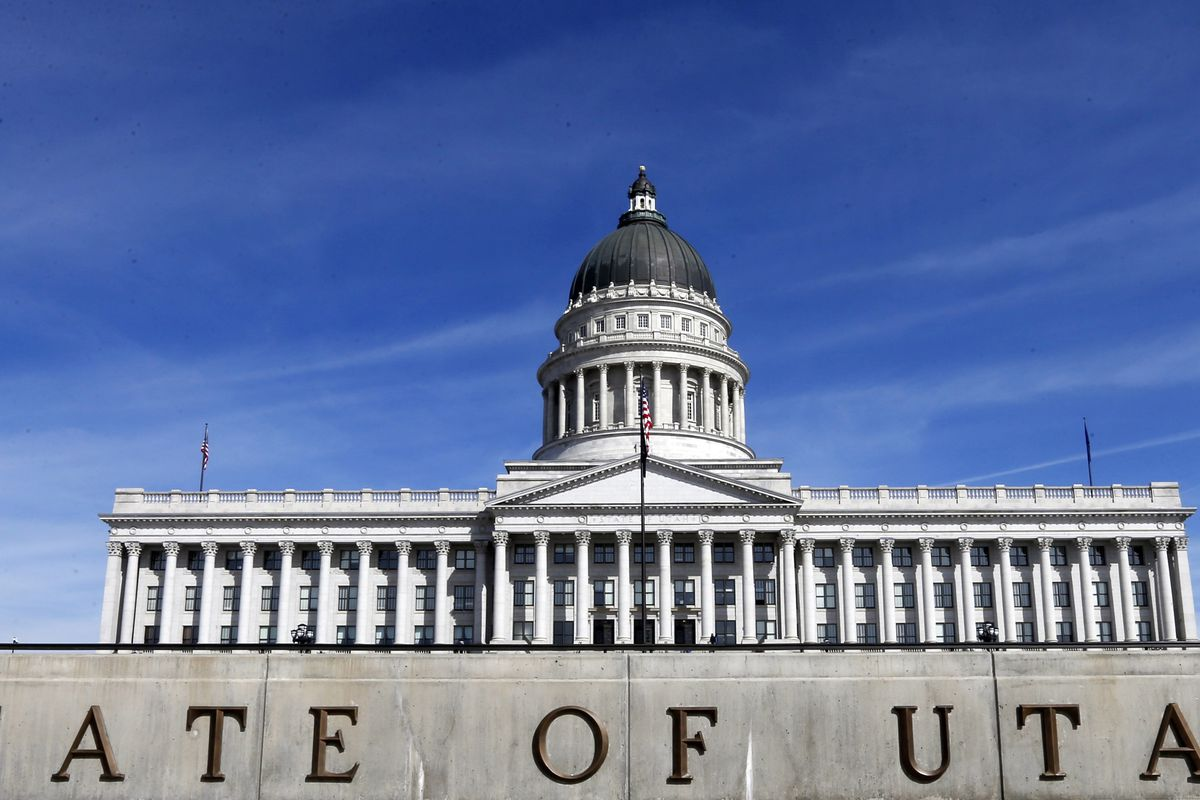 FILE - This March 8, 2018, file photo, shows the exterior of the Utah State Capitol in Salt Lake City. Lawmakers passed 574 bills this year, setting a record, and most of those new laws will go into effect on Tuesday, May 14, 2019, 60 days after the end o
