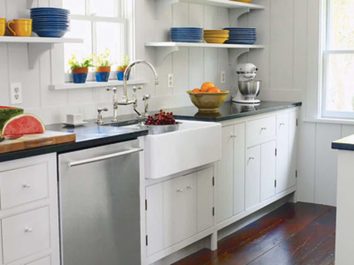 A Functional Kitchen Layout With Period