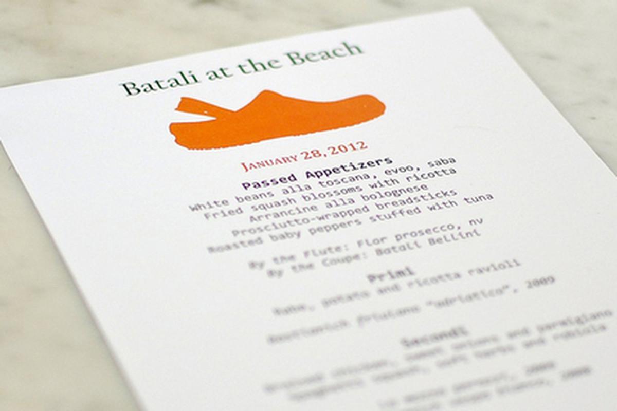 Mario Batali Cooks at Coast inside Shutters, Santa Monica.
