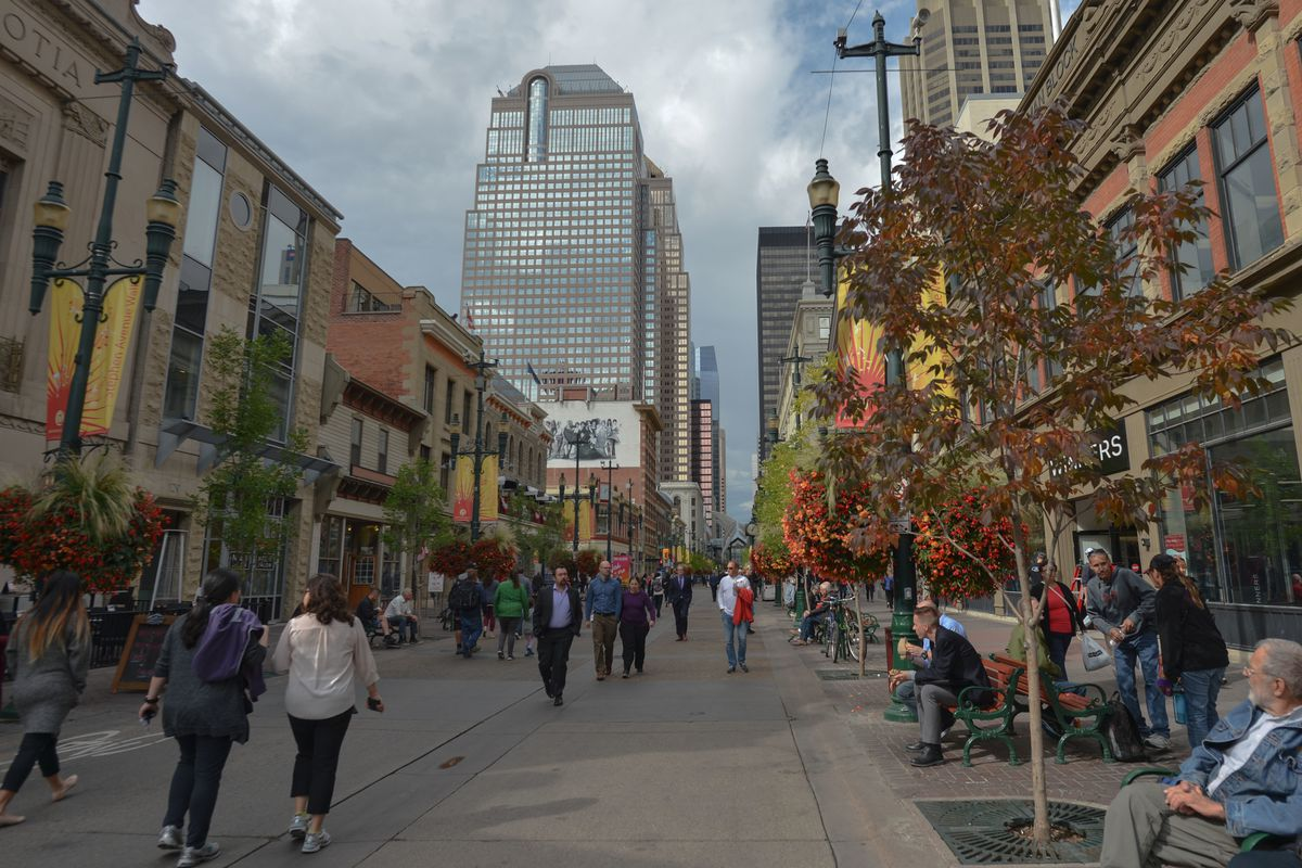 Stephen Avenue in Calgary downtown. Calgarians could go to the polls Nov. 13 to vote on a potential bid for the 2026 Olympics.