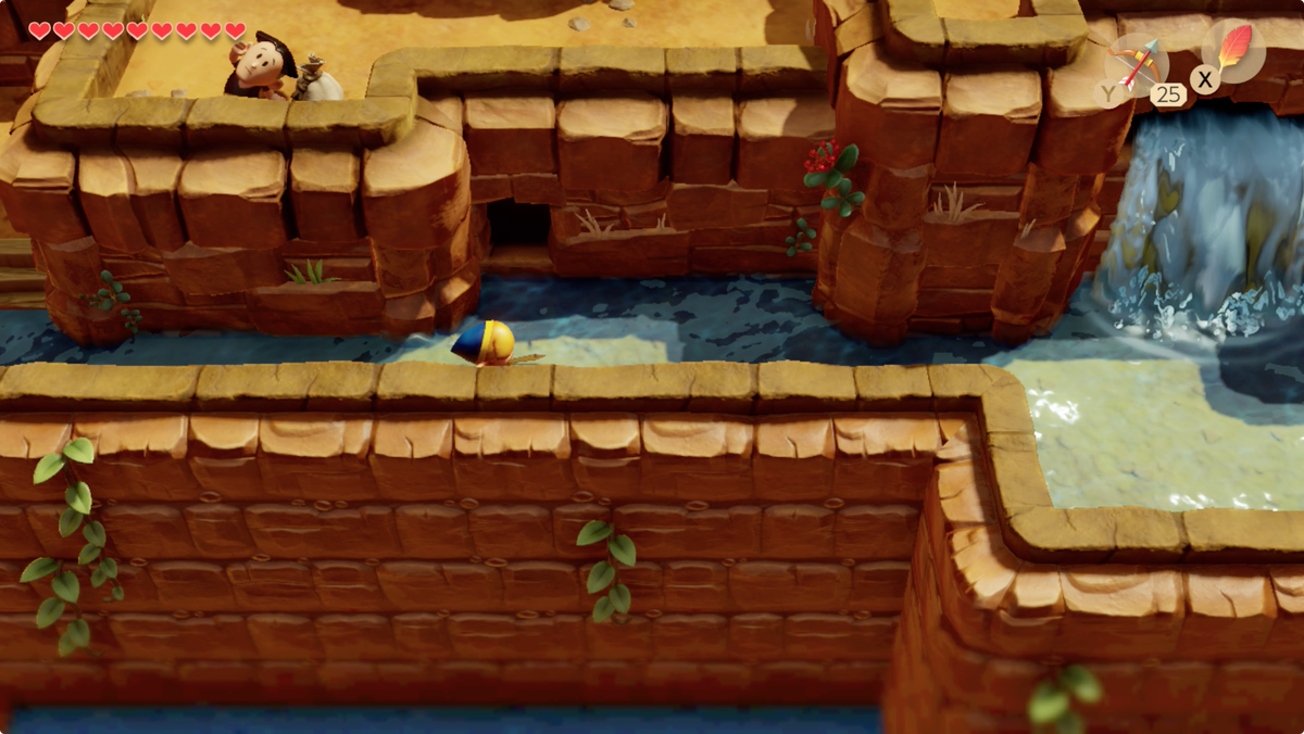 Link's Awakening Tal Tal Heights go back inside to find a way up to Papahl