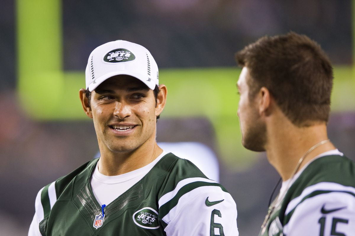 """""""I may be smiling, but you are literally the worst person I know. I hate everything about you. Except maybe when you run in the rain... that's pretty cool."""" - QB Mark Sanchez to QB Tim Tebow"""