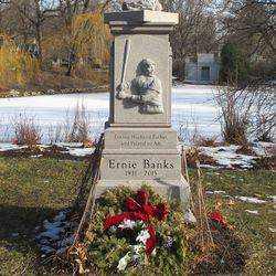 Decorations on Ernie's monument