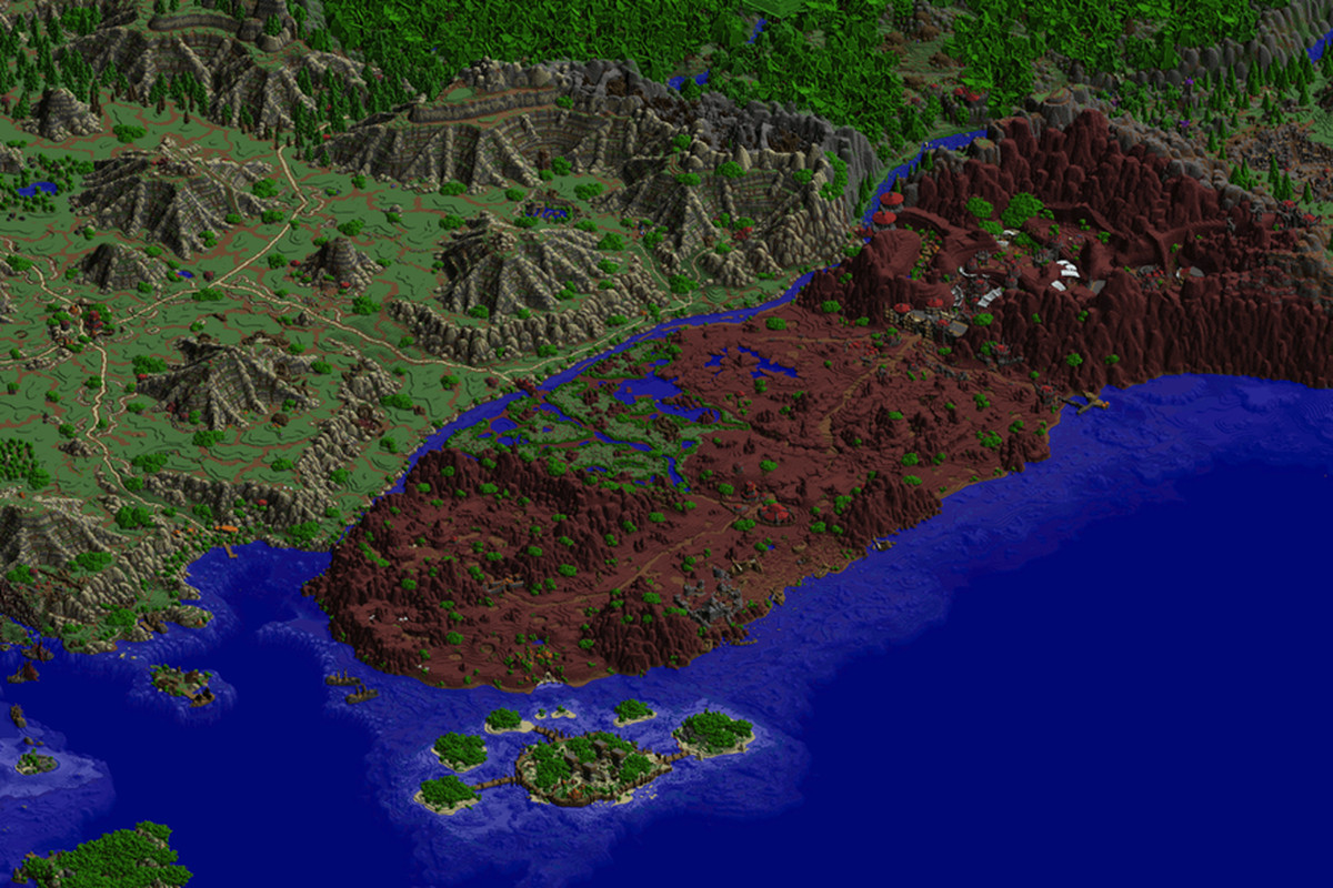 World of warcraft within a world kalimdor recreated to scale in wow in minecraft gumiabroncs Choice Image
