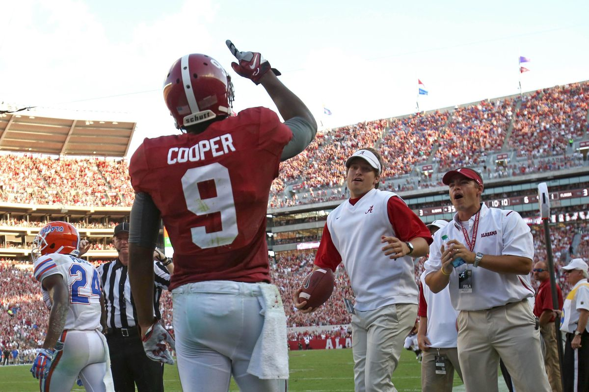 Anyone getting tired of seeing Alabama players holding up a single finger? After five years, I know I am.