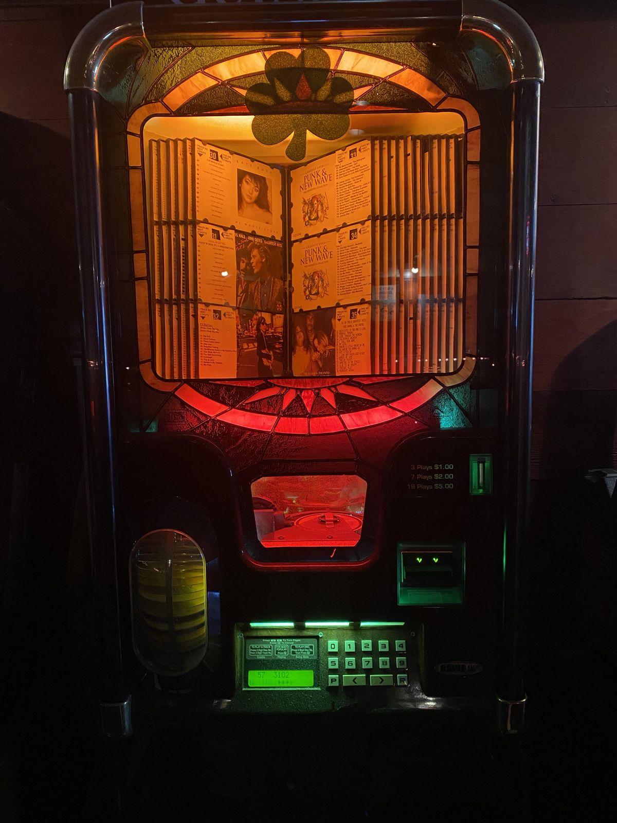 The jukebox at Last Call Bar
