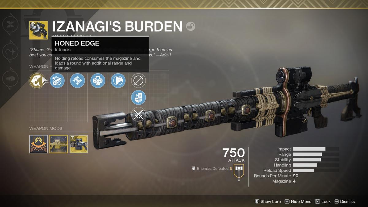 Destiny 2 Izanagi's Burden