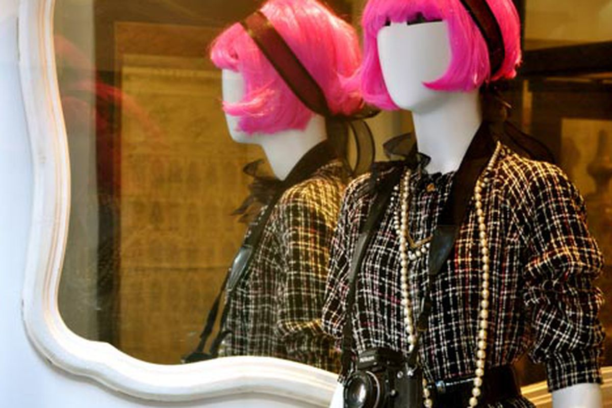 """Be-wigged mannequins via <a href=""""http://www.flickr.com/photos/essgee/4089876262/in/pool-312691@N20"""">EssG</a>/Racked Flickr Pool"""
