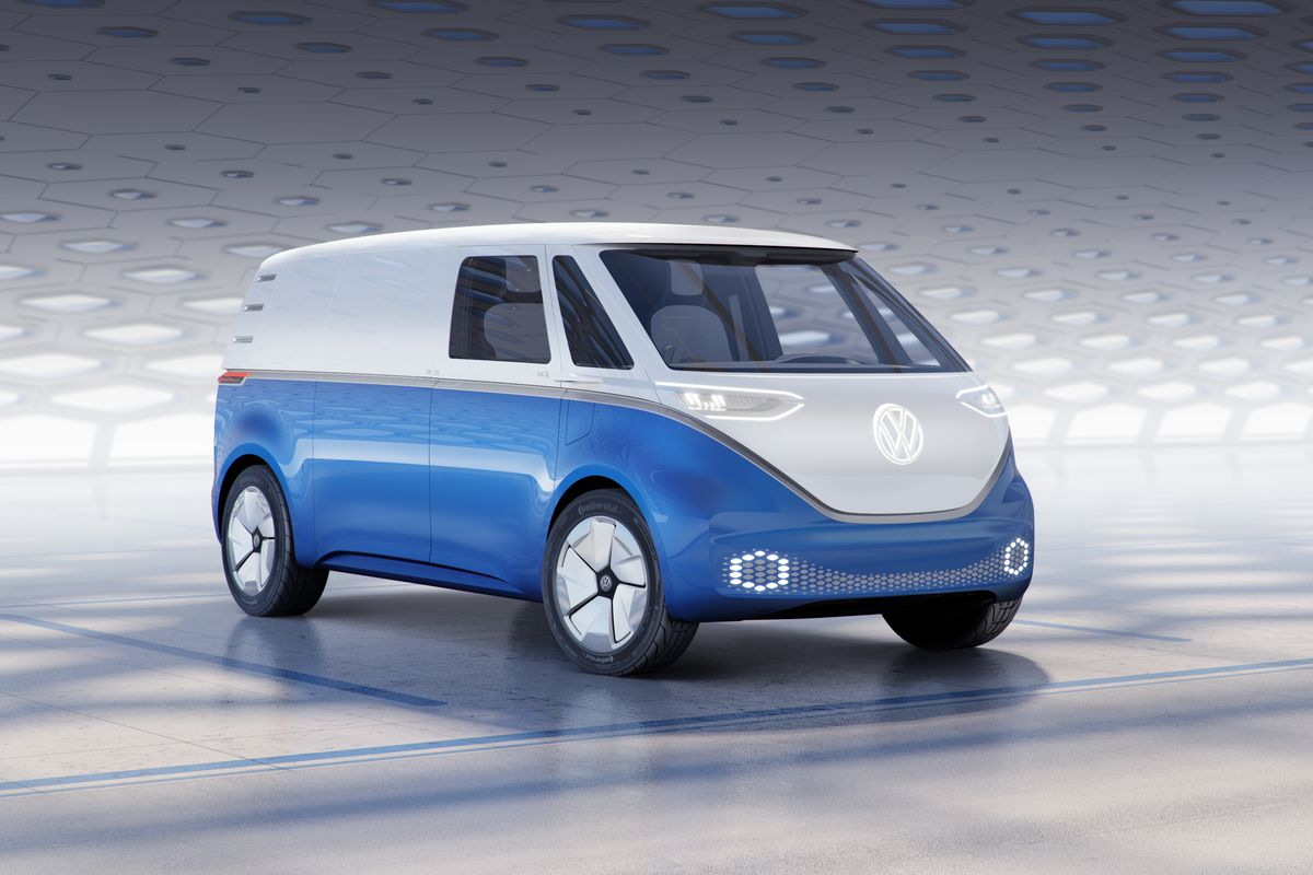 This Week Volkswagen Debuted The Cargo Version Of Its Por Electric I D Buzz Microbus All Photos Courtesy