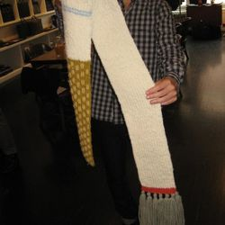 Yes, that's a scarf made to look like a cigarette.