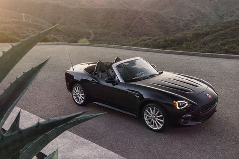 The turbocharged Fiat 124 Spider (that's still sort of a