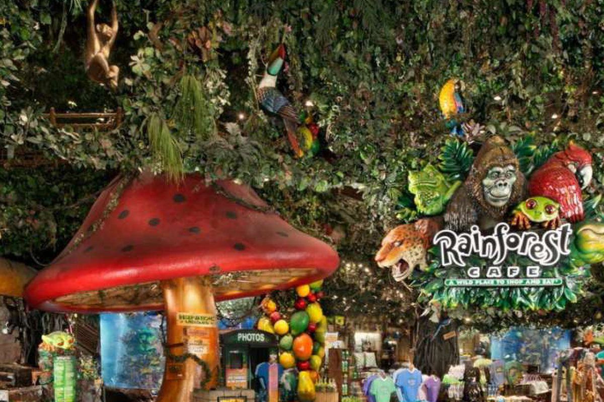 Rainforest Cafe Menu Mgm Grand