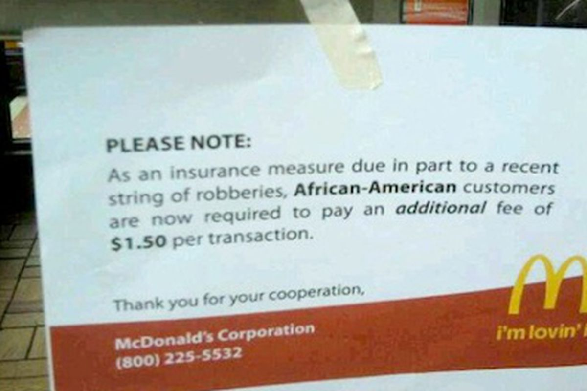 Mcdonalds Isnt Charging African Americans 150 Extra Eater