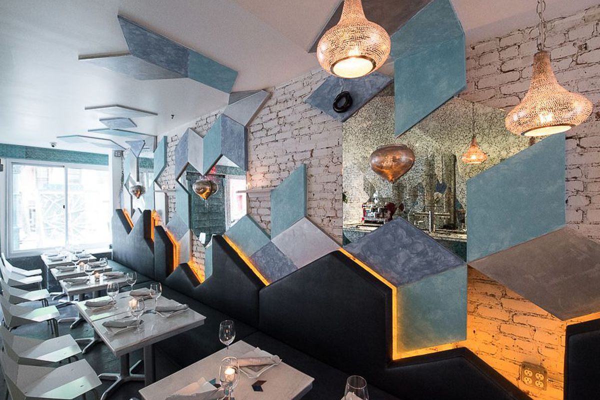 """<a href=""""http://ny.eater.com/archives/2014/05/lumiere_a_geometric_new_east_village_restaurant.php"""">Lumiere, New York City</a>."""