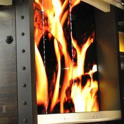 Originally called Flame Burger, the flame motif remains.