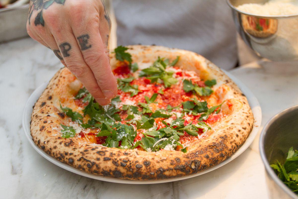 Anthony Mangieri's three tomato pie
