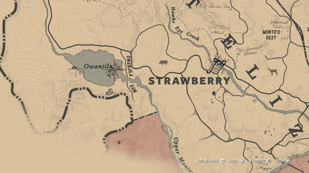 Red Dead Redemption 2Legendary Smallmouth Bass location