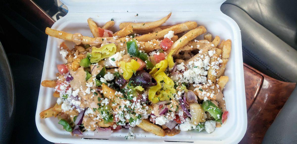 Street cart fries from Spitz.
