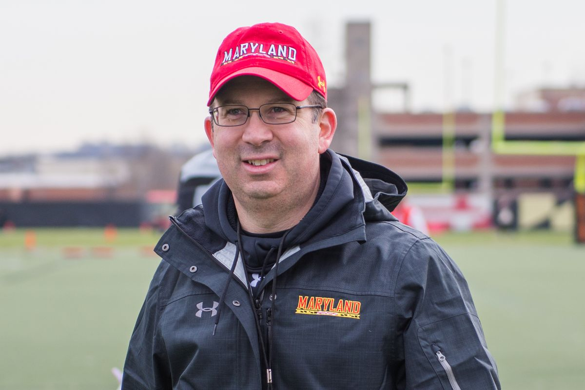 Maryland special teams coach Pete Lembo after a spring practice last week.